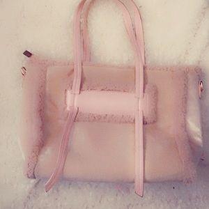 Pink LC Faux Fur bag